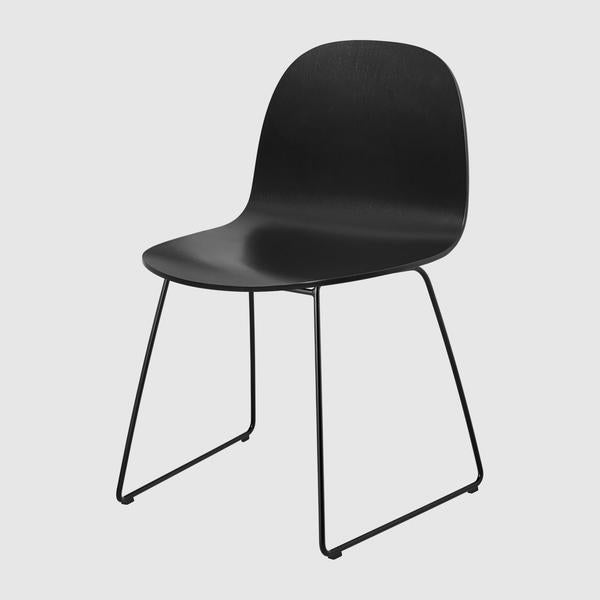 2D Dining Chair - Un-upholstered - Sledge base
