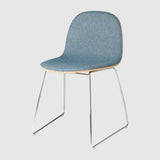 2D Dining Chair - Front Upholstered - Sledge base