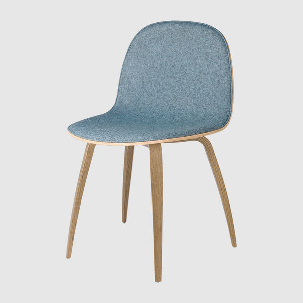 2D Dining Chair - Front Upholstered - Wood base