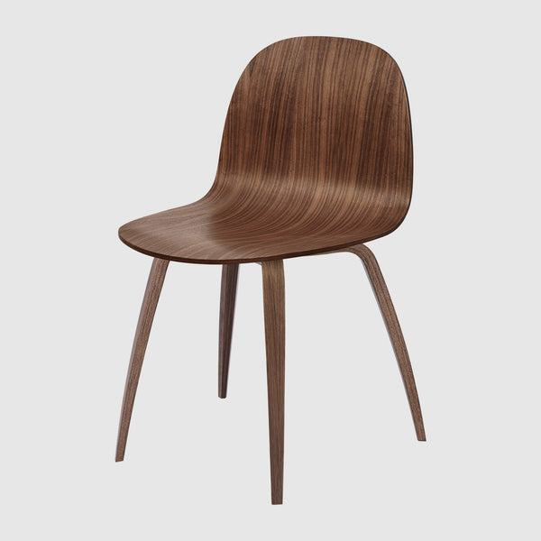 2D Dining Chair - Un-upholstered - Wood Base