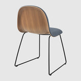 3D Dining Chair - Front Upholstered - Sledge base