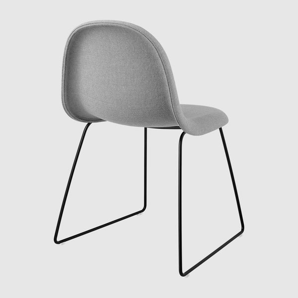 3D Dining Chair - Fully Upholstered - Sledge base