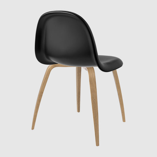 3D Dining Chair - Front Upholstered - Wood base