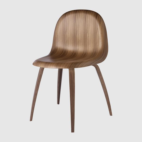 3D Dining Chair - Un-upholstered - Wood base