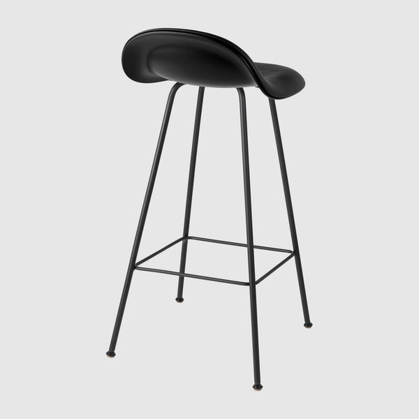 3D Counter Stool - Front Upholstered - 65 cm - Center base
