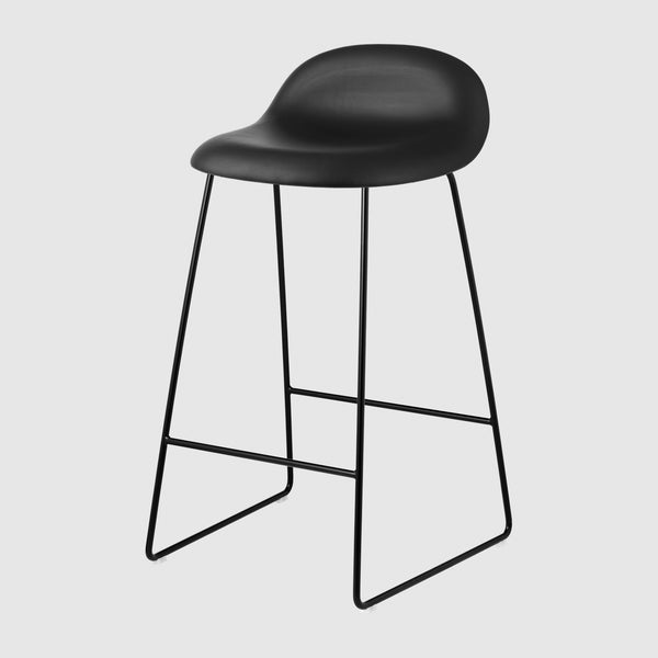 3D Counter Stool - Fully Upholstered - 65 cm - Sledge base