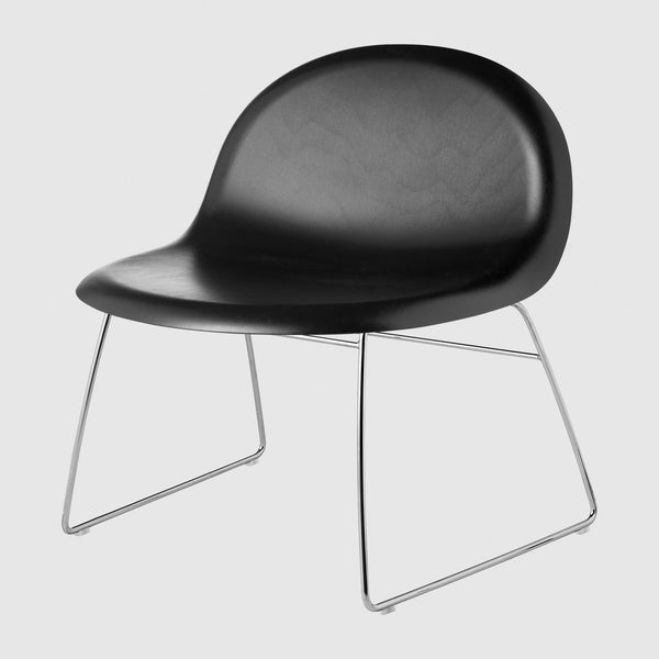 3D Lounge Chair - Un-Upholstered, Sledge Base