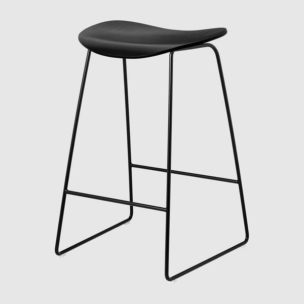 2D Counter Stool - Un-upholstered, 65, Sledge Base