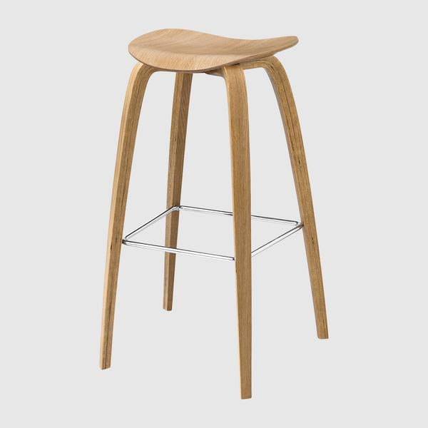 2D Bar Stool - Un-Upholstered, 75, Wood Base