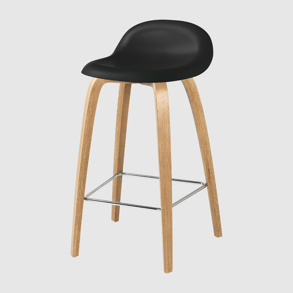 3d Counter Stool Un Upholstered 65 Cm Wood Base