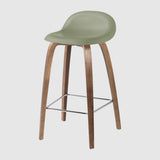 3D Counter Stool - Un-upholstered - 65 cm - Wood base