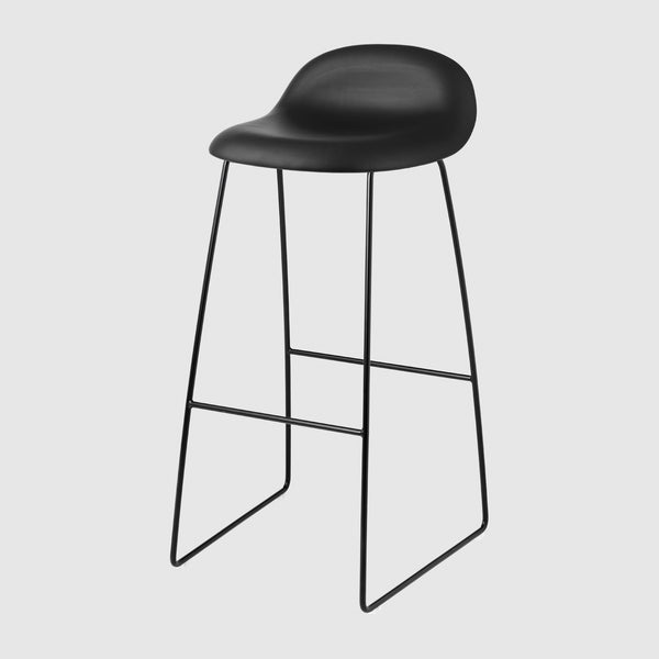 3D Bar Stool - Fully Upholstered - 75 cm - Sledge base