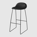 3D Bar Stool - Un-Upholstered, 75, Sledge Base