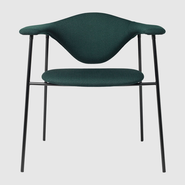 Masculo Dining Chair, Upholstered, metal base (4 legs)
