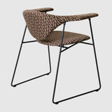 Masculo Dining Chair - Fully Upholstered - Sledge base