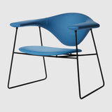 Masculo Lounge Chair - Fully Upholstered - Sledge base