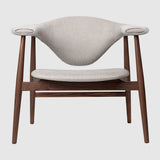 Masculo Lounge Chair - Fully Upholstered, Wood base