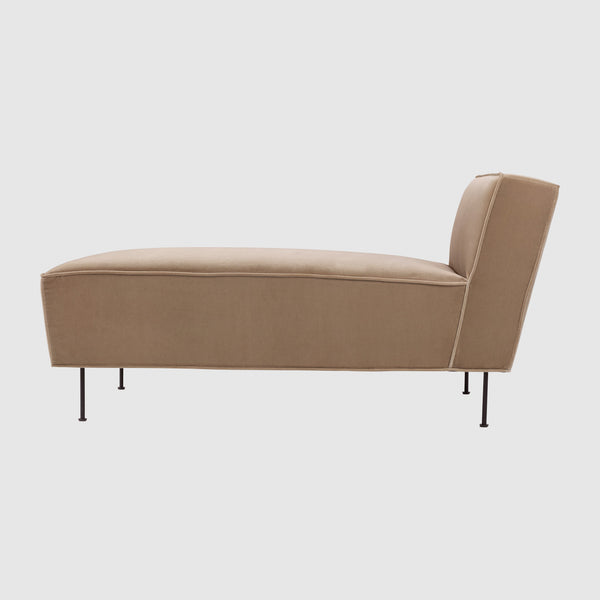Modern Line Chaise Longue Sofa - (H 70 x W 75 x D 138 cm) – GUBI on chaise lounge bed, antique walnut bed, chaise sleeper bed, chair bed, double chaise sofa bed,
