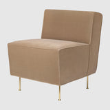 Modern Line Lounge Chair - Dining Height - (H 74 x W 58 x D 71 cm)