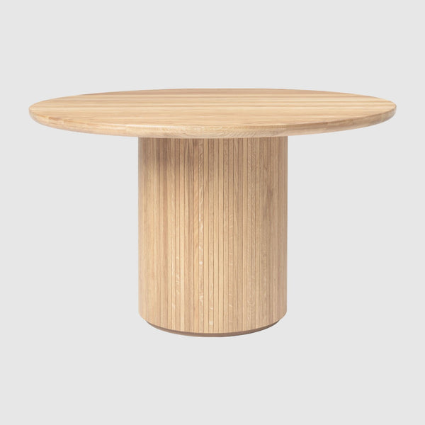 Moon Dining Table - Round, 120cm diameter, Wood top