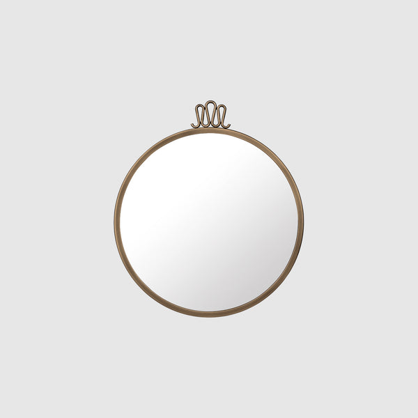 Randaccio Wall Mirror - Round - Dia. 42 - Antique Brass