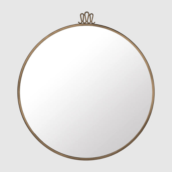 Excellent Randaccio Wall Mirror - Round - Dia. 70 - Antique Brass – GUBI Webshop WK28