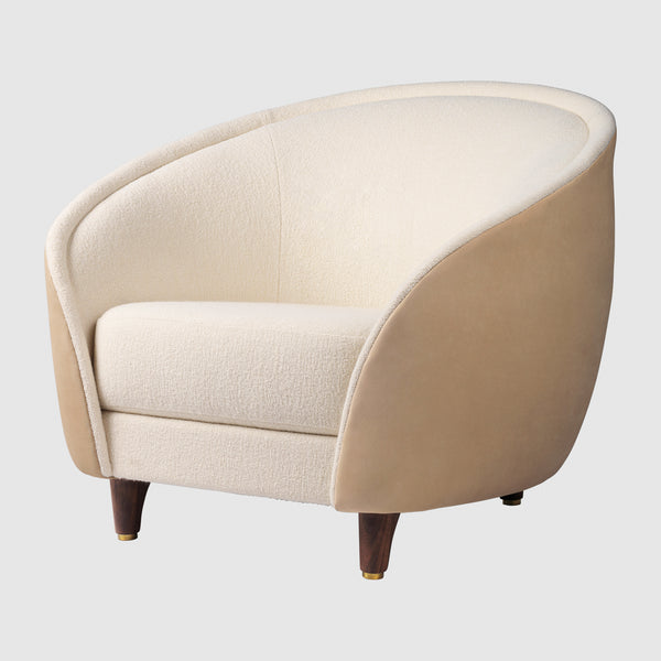 Revers Lounge Chair - Fully Upholstered, Wood base