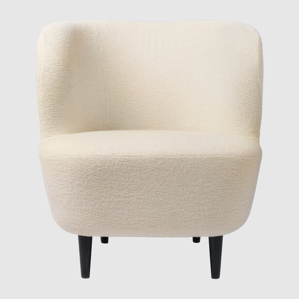 Stay Lounge Chair Fully Upholstered Small Wood Base
