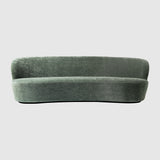 Stay Sofa - Fully Upholstered, Oval, 240x95, Black base