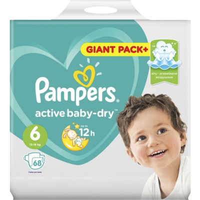 PAMPERS Active Baby Живх №6 (15-18кг)