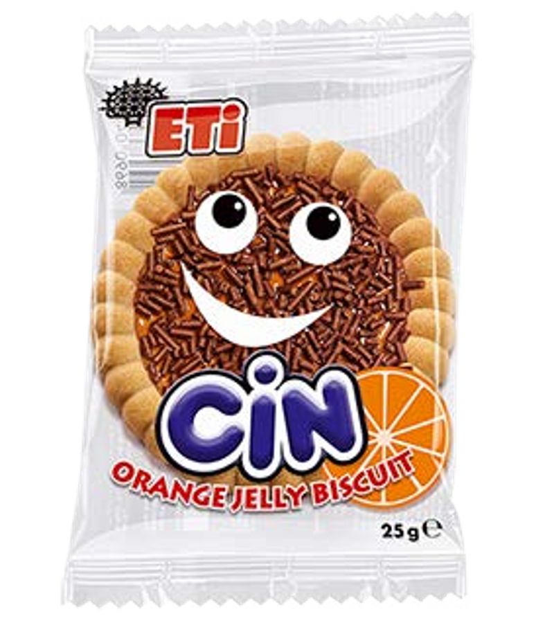 Cin Orange Jelly Biscuit 25gr