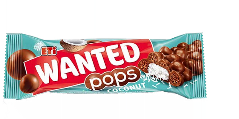 Wanted Pops Milk Chocolate Coated Coconut Bar 28gr