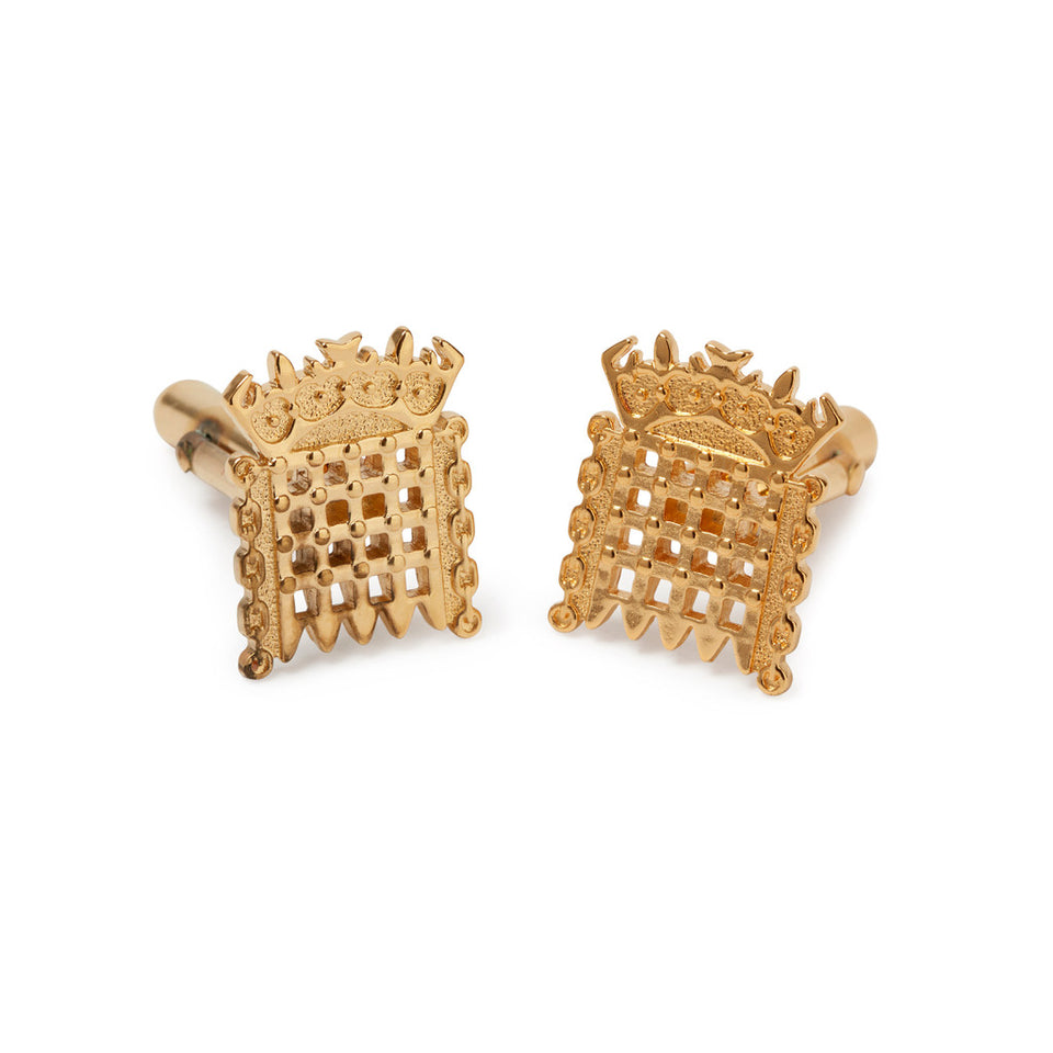 Gold Plated House of Lords Cufflinks