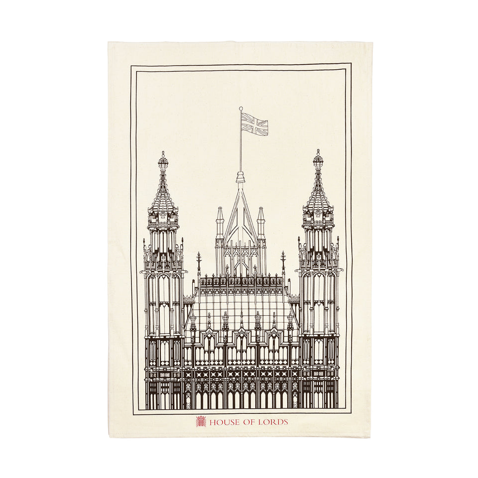 House of Lords Victoria Tower Sketch Tea Towel featured image