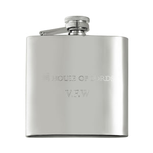 Personalised House of Lords Hip Flask