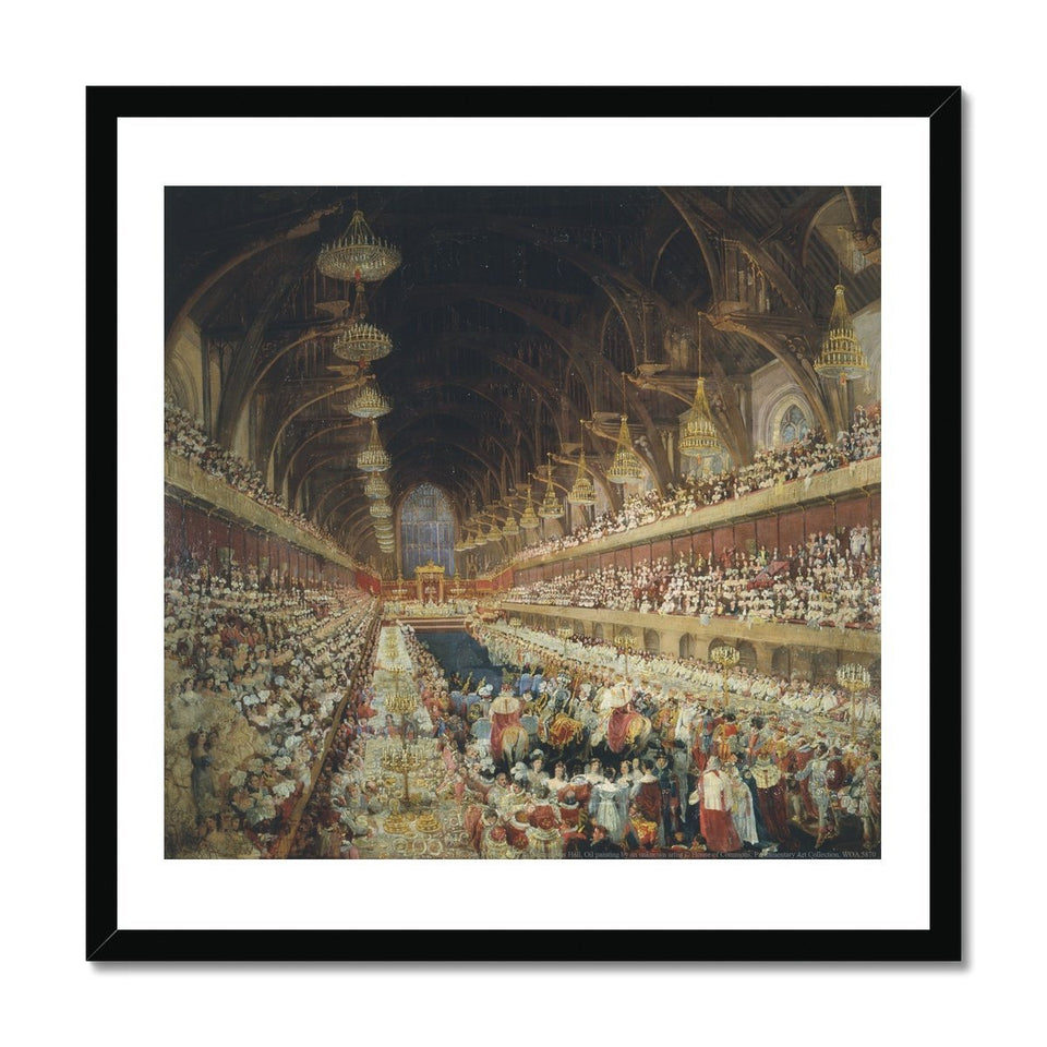 Coronation Banquet of George IV Framed Print featured image