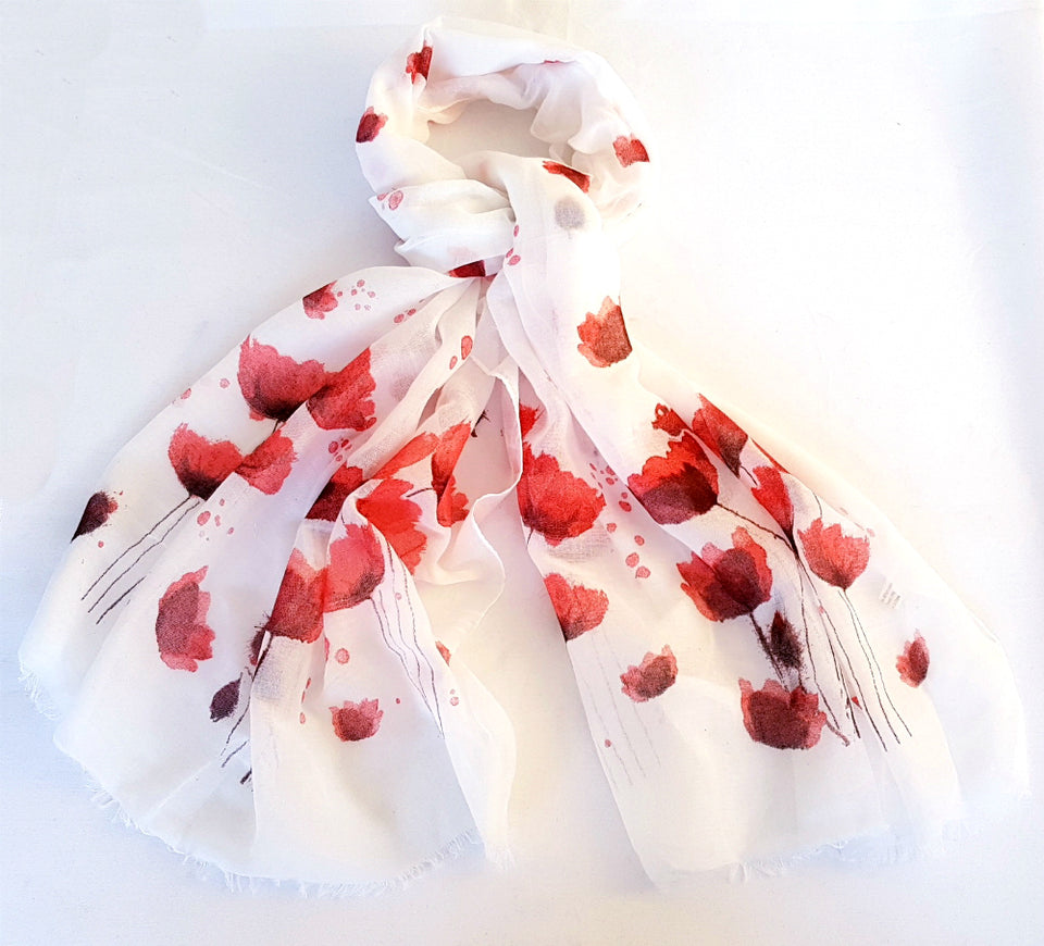 White Poppy Scarf featured image