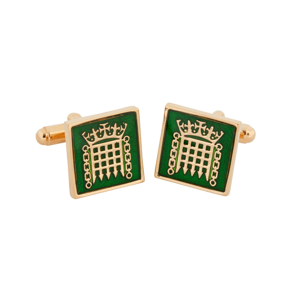 18k Gold Plated Portcullis Cufflinks featured image