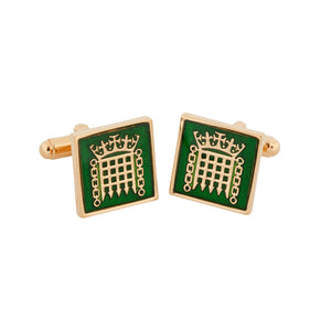 18k Gold Plated Portcullis Cufflinks