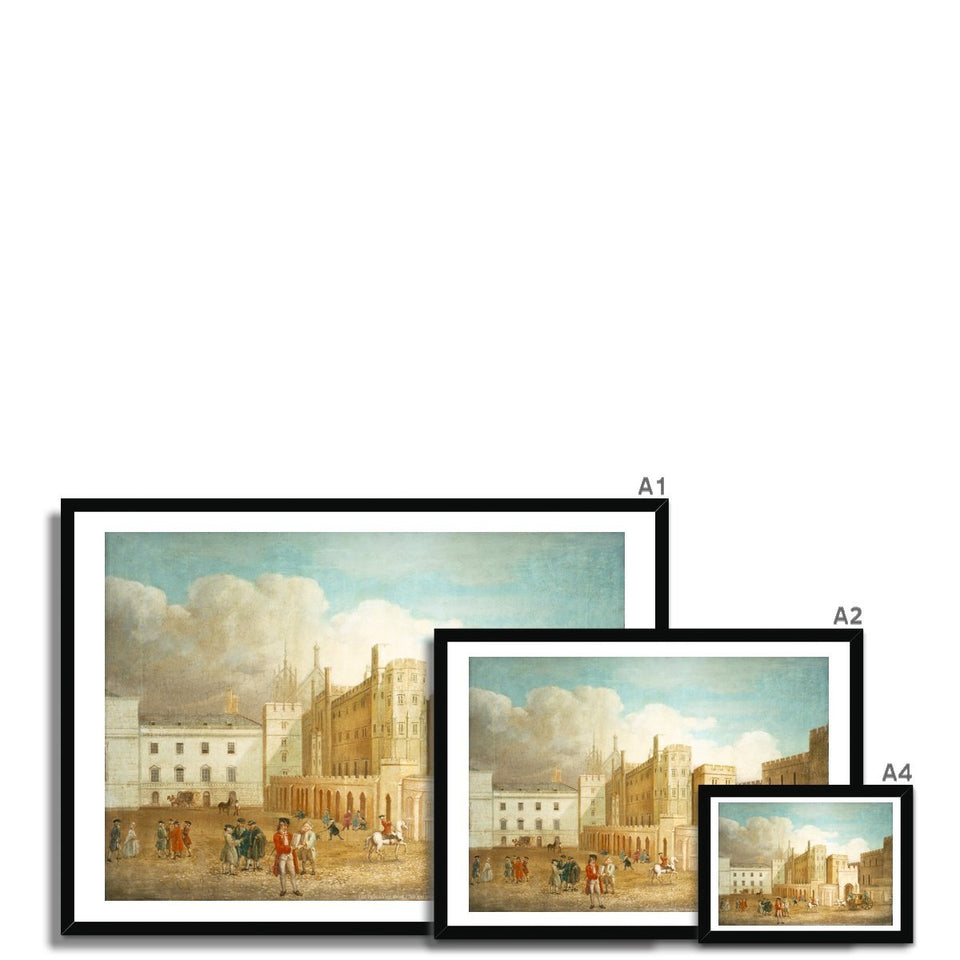 Old Palace Yard about 1760 Framed Print featured image