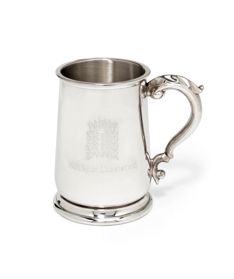 Engraved Pewter Beer Tankard