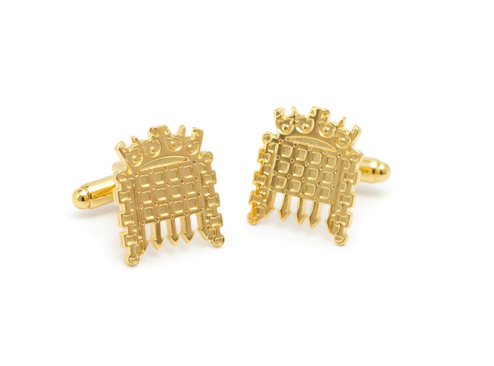 Gold Portcullis Cufflinks featured image