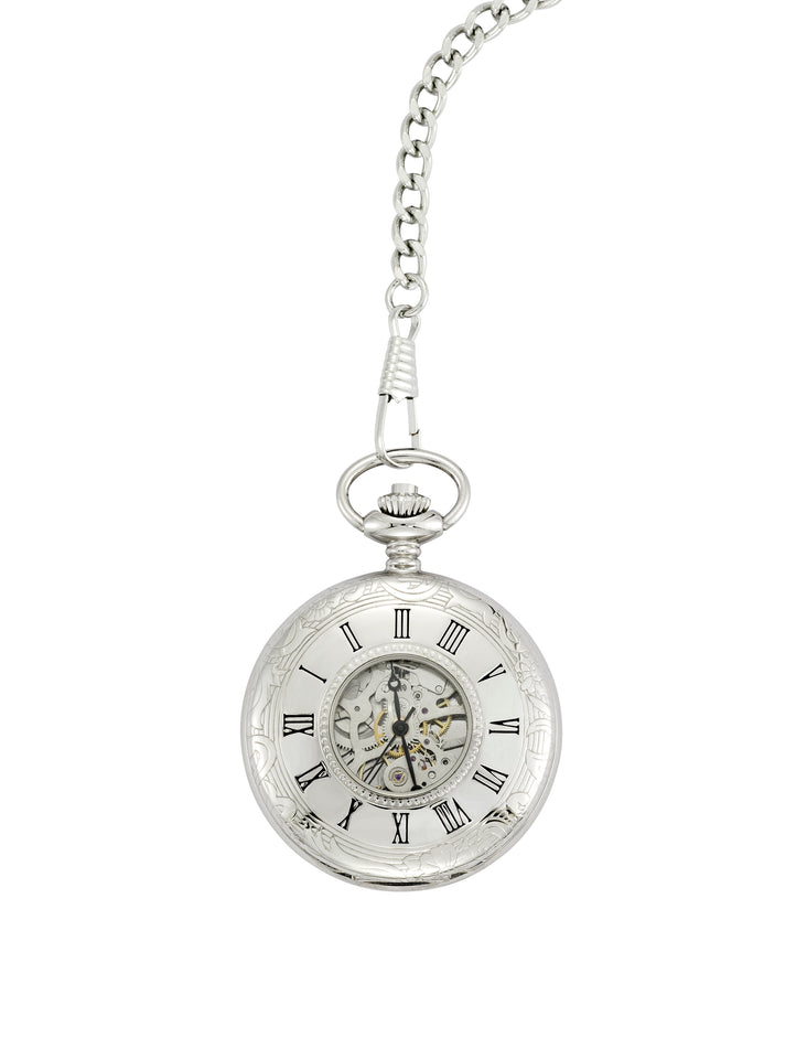 Chrome Plated Half Hunter Pocket Watch featured image