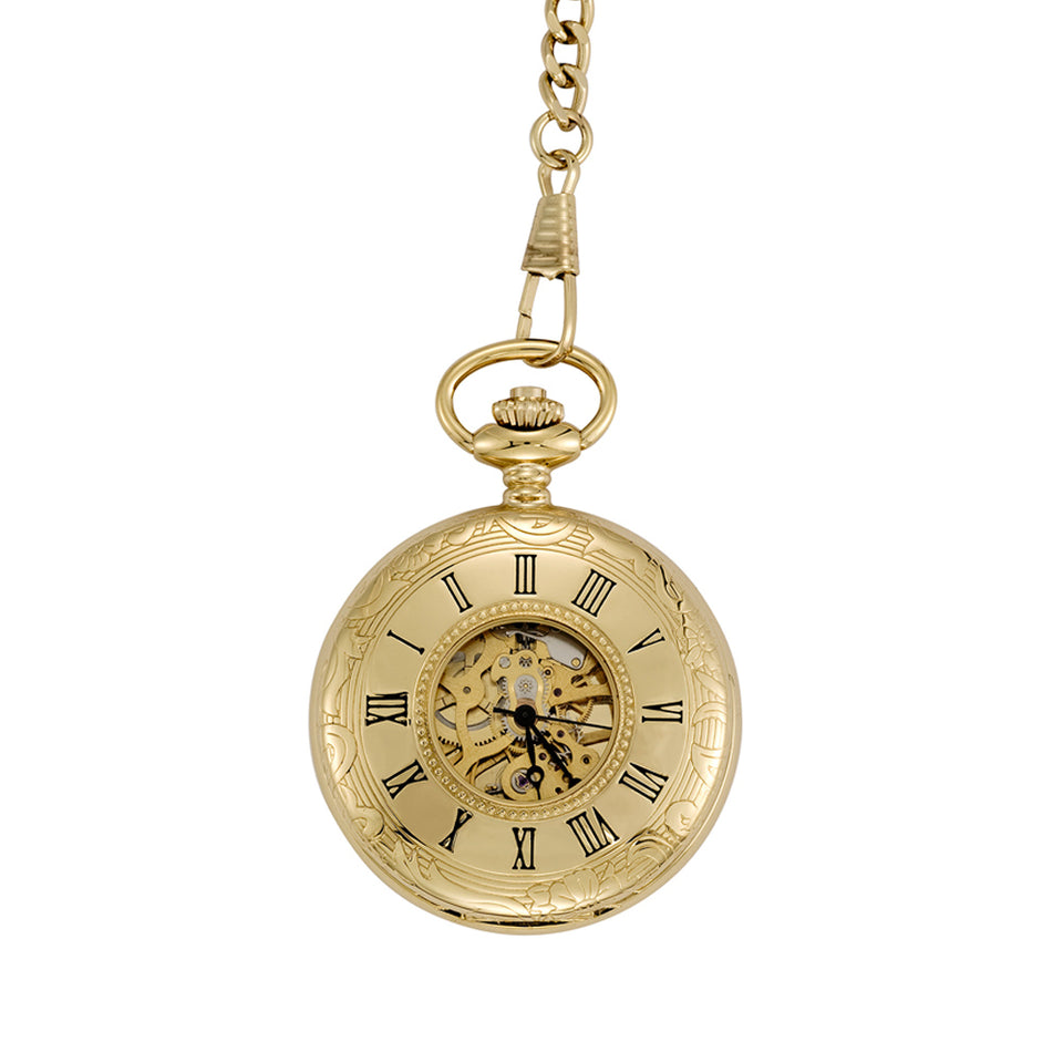 Gold Plated Half Hunter Pocket Watch featured image