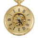 Gold Plated Half Hunter Pocket Watch image 3
