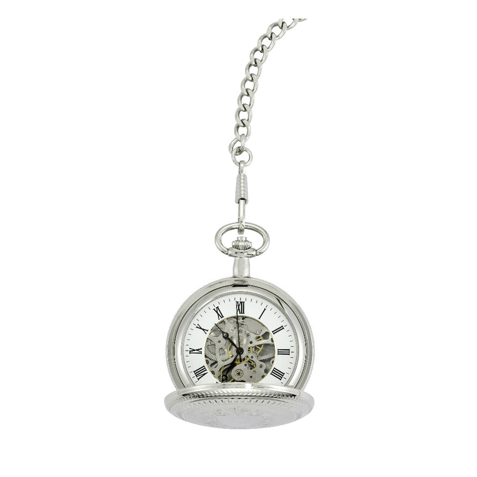 Chrome Plated Full Hunter Pocket Watch featured image