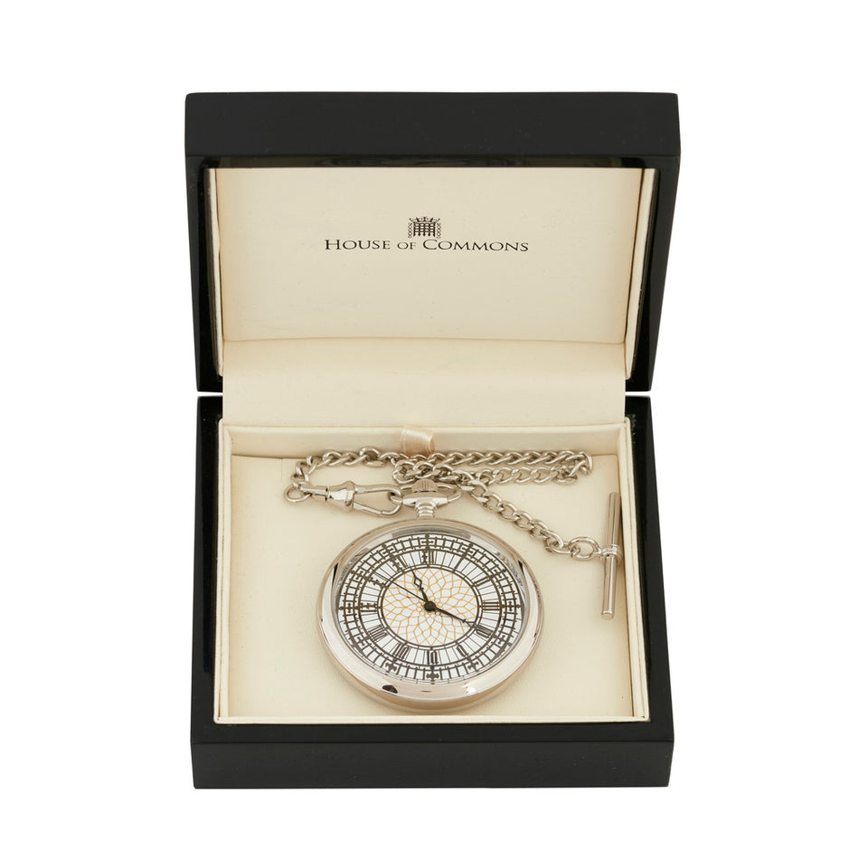 Chrome Plated Big Ben Pocket Watch