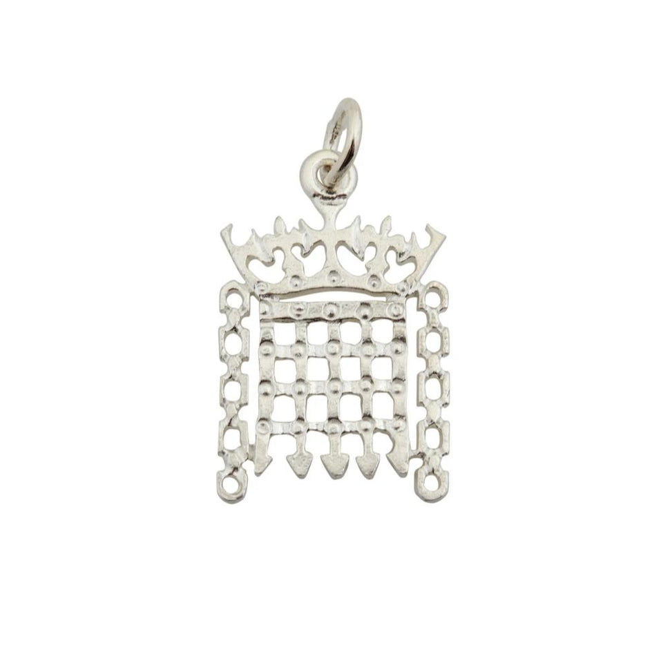 Sterling Silver Portcullis Charm featured image