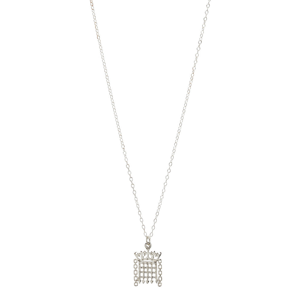 Sterling Silver Portcullis Pendant Necklace featured image