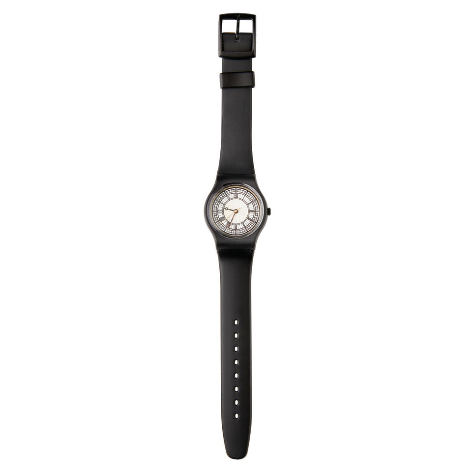 Black Strap Big Ben Watch